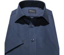 Herren Hemd, Slim Fit, Popeline, nachtblau