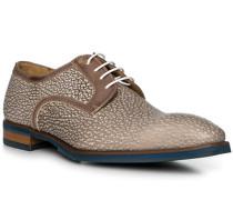 Schuhe Derby Leder grigio