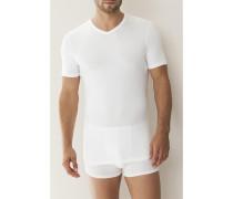 Herren T-Shirt Micro-Modal-Elasthan grau-schwarz-dunkelblau-santorin-weiß grau,schwarz,weiß