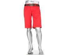 Herren Hose Bermudas Lou-K, Regular Slim Fit, Baumwolle, rot gemustert