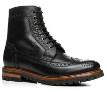Herren Schuhe Boots Leder schwarz schwarz,blau