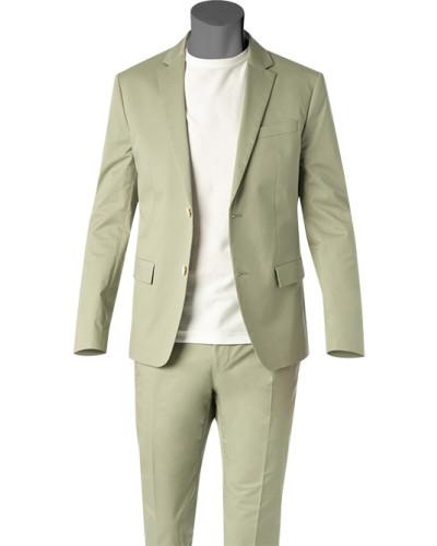 Anzug, Fitted, Baumwoll-Stretch, lind