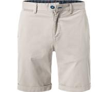 Hose Shorts Regular Fit Baumwolle hell