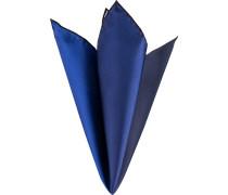 Herren Accessoires Einstecktuch Seide blau kariert