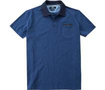 Herren Polo-Shirt Modern Fit Baumwoll-Jersey tinten meliert