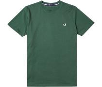 Herren T-Shirt Baumwolle flaschengrün