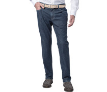 Herren Jeans Seth, Tailored Fit, Baumwoll-Stretch, denim blau