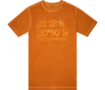 Herren T-Shirt, Baumwolle, orange