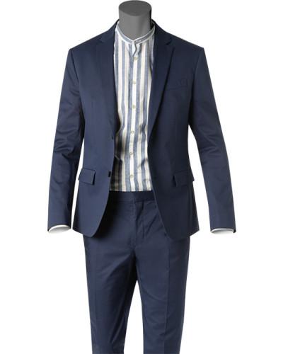 Anzug, Fitted, Baumwoll-Stretch, navy
