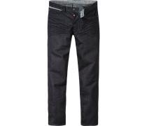 Herren strellson Sportswear Jeans Robin Slim Fit Baumwoll-Stretch dunkel