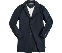 Herren Mantel Baumwolle beschichtet dunkelblau