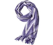 Herren  Schal Baumwolle lila gemustert violett