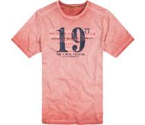 Herren T-Shirt Baumwoll-Jersey aprikot