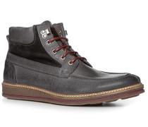Herren Schuhe Schnürstiefeletten Leder grau grau,grau