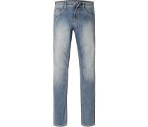 Herren Jeans Comfort Fit Baumwoll-Stretch blau