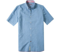 Herren Hemd Modern Fit Baumwolle himmelblau