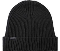 Herren Mütze, Baumwolle-Wolle, schwarz