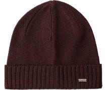 Herren   Mütze Baumwolle bordeaux rot