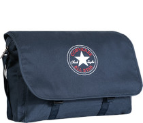 Herren Messenger Bag, Canvas, navy blau