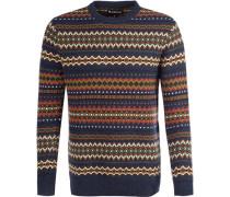 Herren Pullover Wolle multicolor gemustert