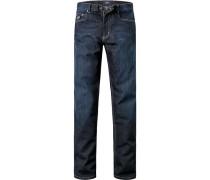 Herren Jeans, Denimstretch, indigo blau