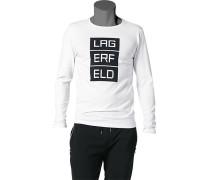 Herren T-Shirt Langarmhirt Baumwoll-Stretch