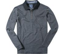 Herren Polo-Shirt Baumwoll-Jersey meliert
