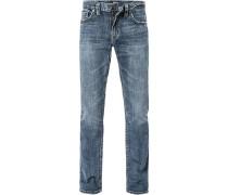 Herren Jeans, Baumwoll-Denim, jeansblau