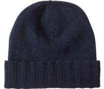 Herren   Mütze Material-Mix marineblau