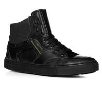 Herren Schuhe Sneaker Kalbleder-Textil-Mix schwarz schwarz,schwarz