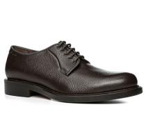 Herren Schuhe Derby Kalbleder Scotchgrain dunkelbraun braun,braun