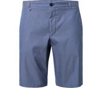 Herren Hose Bermudashorts, Baumwolle, blau gepunktet