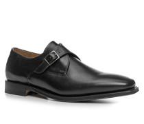 Herren Schuhe Monkstraps Kalbleder schwarz