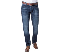 Herren Jeans Slim Fit Baumwoll-Stretch indigo