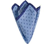 Herren Accessoires Einstecktuch Seide bleu-marine gemustert