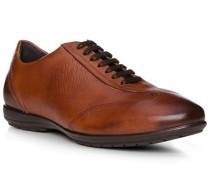 Herren Schuhe Sneaker, Leder, cognac braun