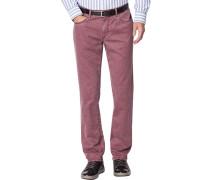 Herren Jeans Seth, Tailored Fit, Baumwoll-Stretch, rot