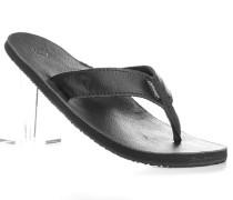 Herren Schuhe Zehensandalen Leder schwarz