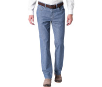Herren Jeans, Contemporary Fit, Baumwoll-Stretch 7,5oz, jeansblau