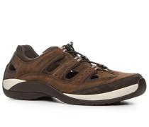 Herren Schuhe Sandalen Leder-Microfaser braun