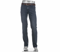Herren Jeans Pipe Regular Slim Fit Baumwoll-Stretch denim blau