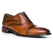 Schuhe Oxford Largo Kalbleder cognac