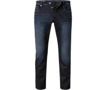 Jeans 3301 Slim Fit Baumwoll-Stretch dunkel