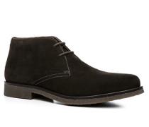 Herren Schuhe Desert Boots Veloursleder dunkelbraun