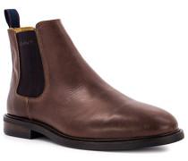 Schuhe Chelsea Boots, Rindleder, cognac