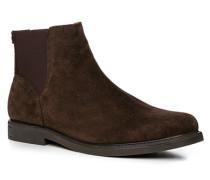 Herren Schuhe Chelsea Boots Veloursleder braun