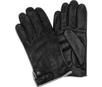 Herren Handschuhe, Nappaleder gepolstert, schwarz