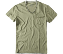 Herren T-Shirt Baumwolljersey khaki