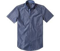 Herren Hemd, Slim Fit, Baumwolle, jeansblau