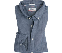 Herren Hemd, Regular Fit, Baumwolle, denim blau
